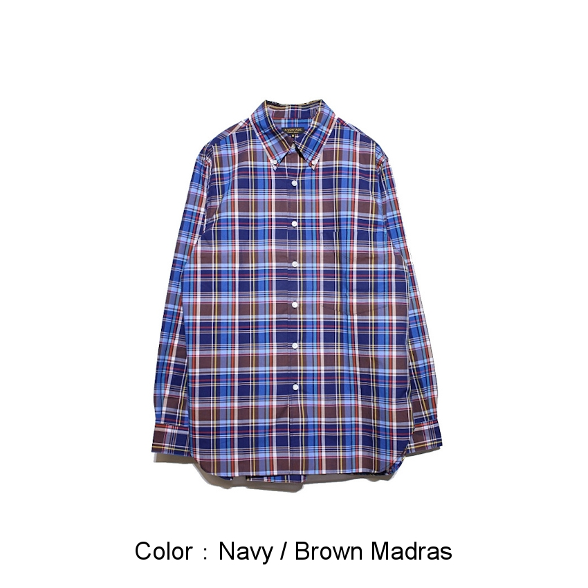 Navy / Brown Madras