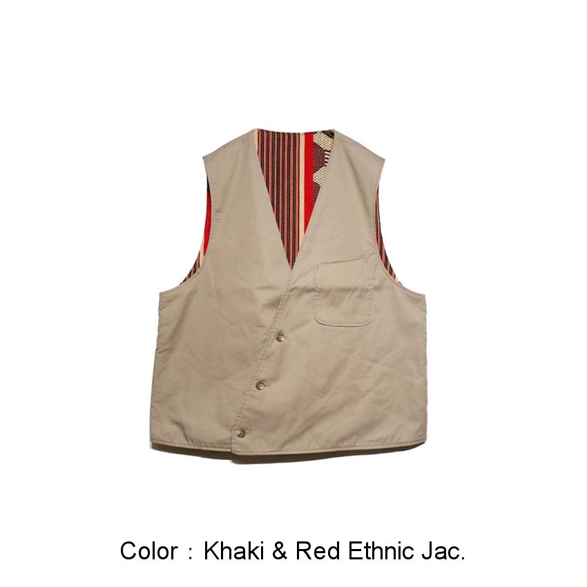 Khaki&Red Ethnic Jac.